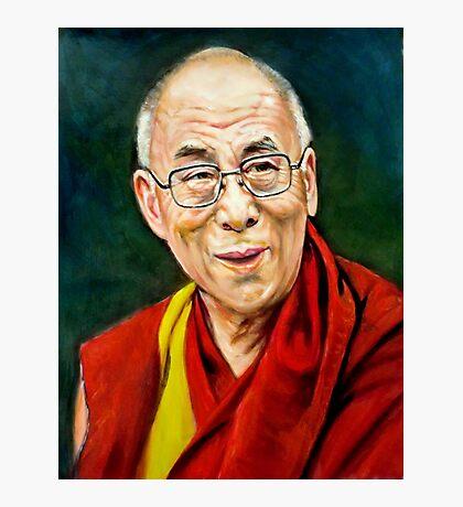 portrait of 14th Dalai Lama Photographic Print