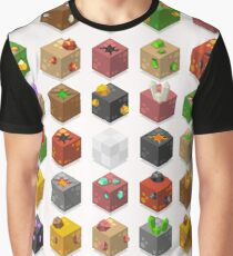 Mine Cubes Isometric Graphic T-Shirt