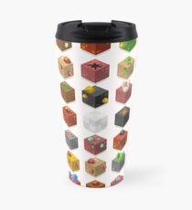 Mine Cubes Isometric Travel Mug