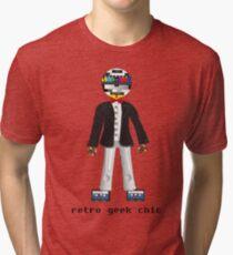 Retro Geek Chic Tri-blend T-Shirt