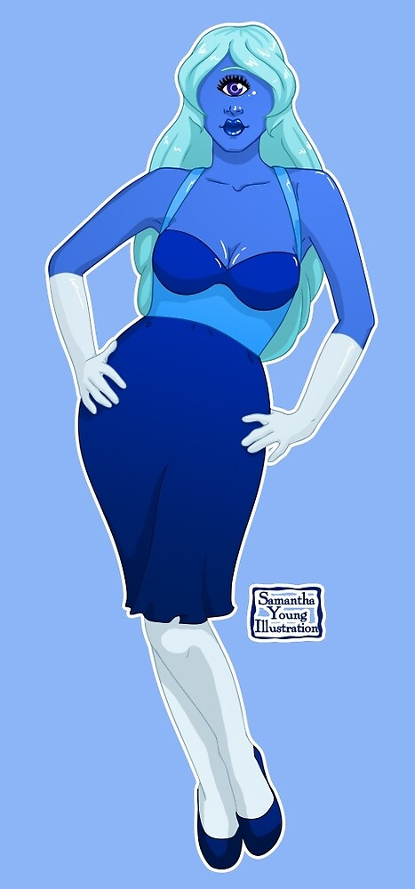 Sapphire Pin-Up by Samantha Young