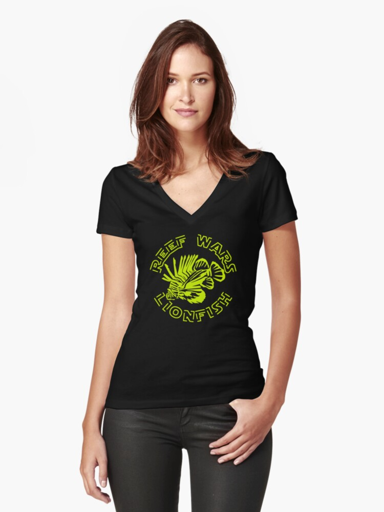 REEF WARS Women's Fitted V-Neck T-Shirt Front