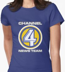 Channel 4 News Team (ANCHORMAN) Women's Fitted T-Shirt