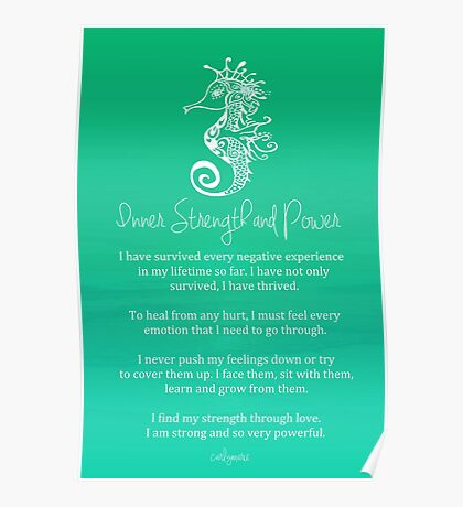 Affirmation - Inner Strength and Power Poster