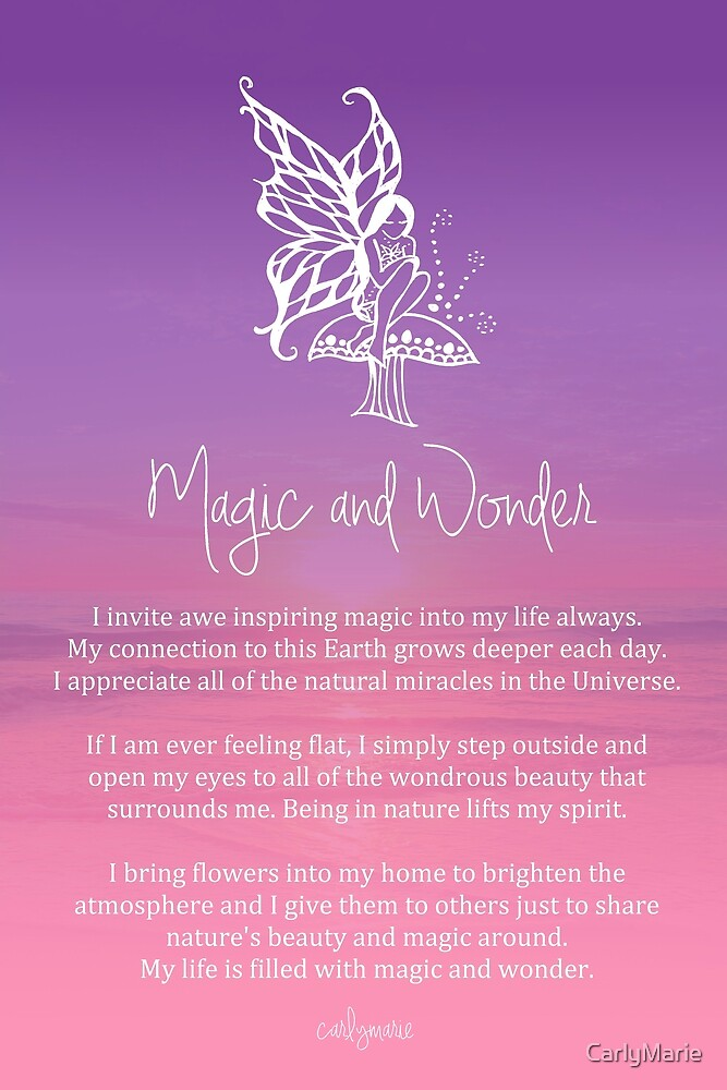 Quot Affirmation Magic And Wonder Quot By Carlymarie Redbubble