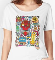 CRAZY DOODLE Women's Relaxed Fit T-Shirt