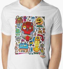 CRAZY DOODLE Men's V-Neck T-Shirt