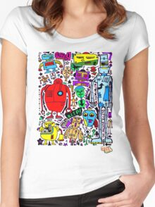CRAZY DOODLE 3 Women's Fitted Scoop T-Shirt