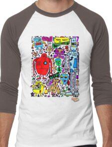 CRAZY DOODLE 3 Men's Baseball ¾ T-Shirt