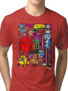 CRAZY DOODLE 3 Tri-blend T-Shirt