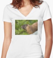 My Beautiful Fur Women's Fitted V-Neck T-Shirt