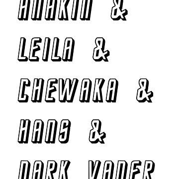Star Wars Friends T-shirt by Albaharu