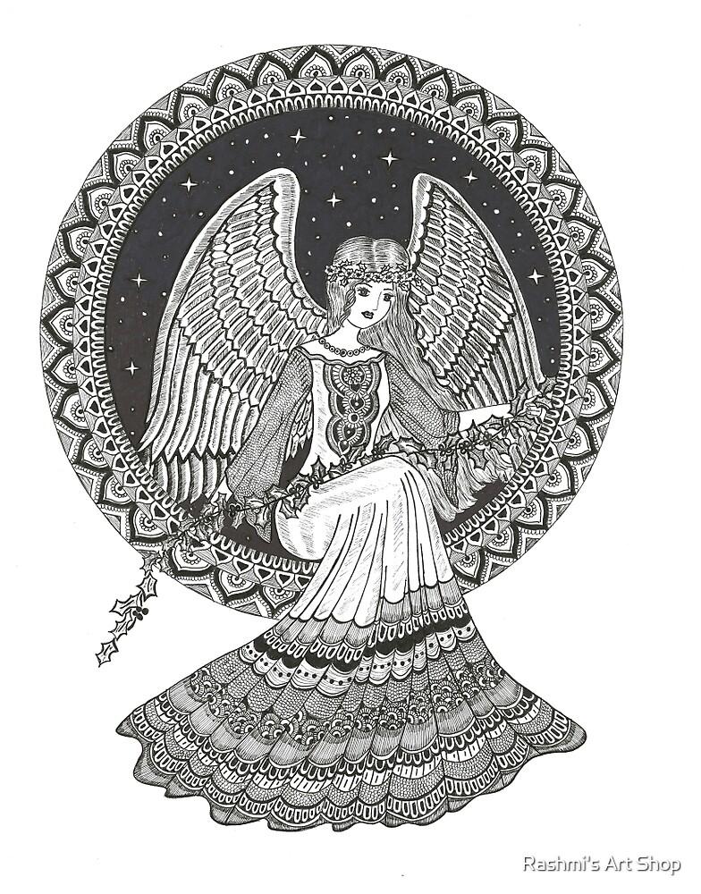 Guardian Angel art by Rashmi's Art Shop
