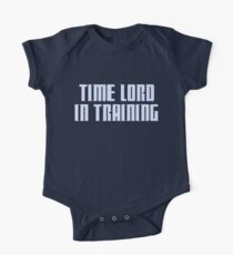 Time Lord in Training Baby Body Kurzarm