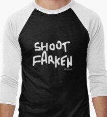 Shoot Farken White Logo Men's Baseball ¾ T-Shirt