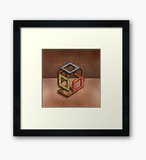 Exploded Open Cube RGB Framed Print