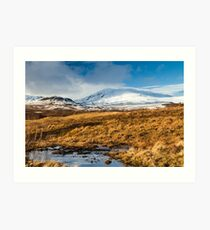 Ben Vrackie in winter, Scotland Art Print