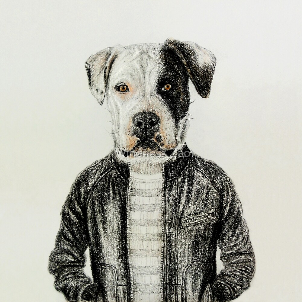 dog portrait  by Windness Zao