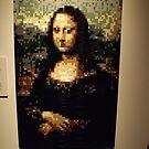 Lego, Mona Lisa, Art of the Brick Exhibition, Nathan Sawaya, Artist, Discovery Times Square, New York City   by lenspiro