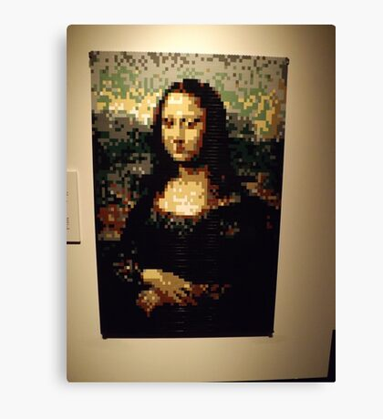 Lego, Mona Lisa, Art of the Brick Exhibition, Nathan Sawaya, Artist, Discovery Times Square, New York City   Canvas Print