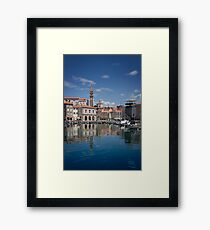 Piran in the sun Framed Print