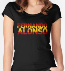 Fernando Alonso - Spanish Flag Women's Fitted Scoop T-Shirt