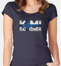 Kimi Raikkonen - Finnish Flag Women's Fitted Scoop T-Shirt