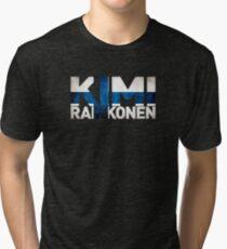 Kimi Raikkonen - Finnish Flag Tri-blend T-Shirt