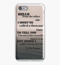 Adele - Hello iPhone Case/Skin