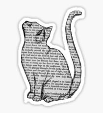 Newspaper Cat Sticker