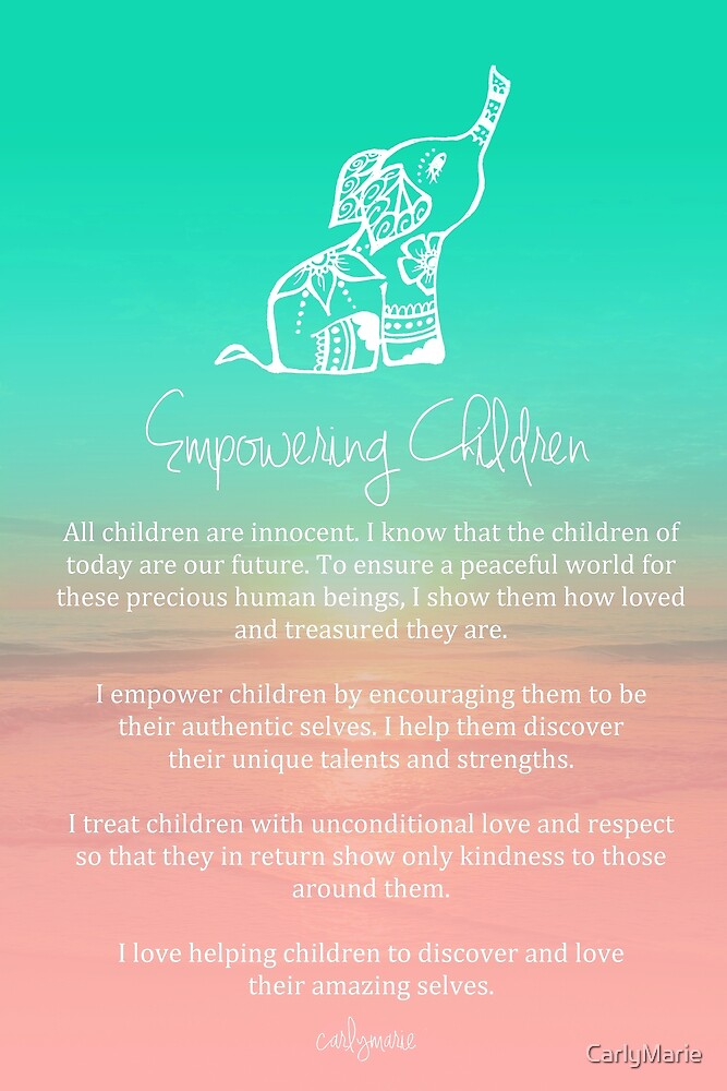 Quot Affirmation Empowering Children Quot By Carlymarie Redbubble