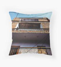 Multistorey Brick House Throw Pillow