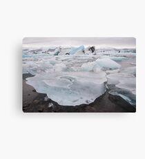 Lagoon Iceberg Field Canvas Print