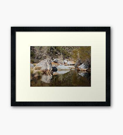 Shadows in Sabino Canyon, Tucson, Arizona Framed Print