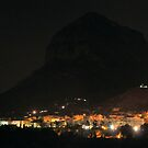 Montgo Mountain at Night by Pamela Jayne Smith