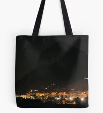 Montgo Mountain at Night Tote Bag