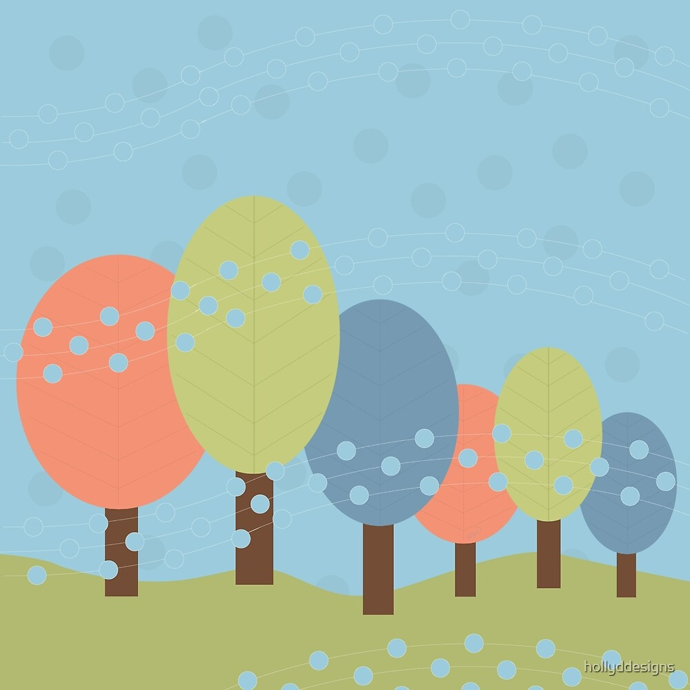 Retro Trees by hollyddesigns