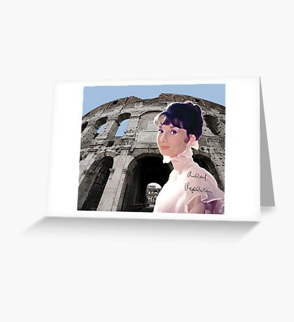 Roman Coliseum and Audrey Greeting Card