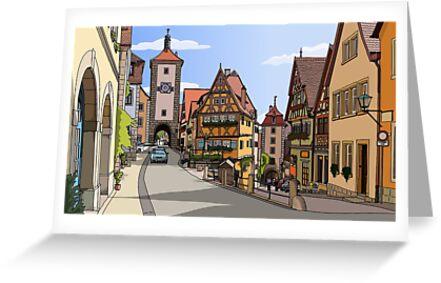 Summer in Rothenburg ob der Tauber, Germany by Lauraamynic