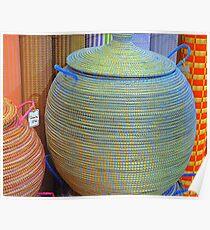 Linen Baskets And Mats Poster