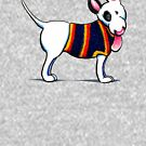 Bull Terrier in Blue {dark} by offleashart