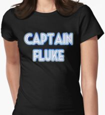 Captain Fluke Intro Title Womens Fitted T-Shirt