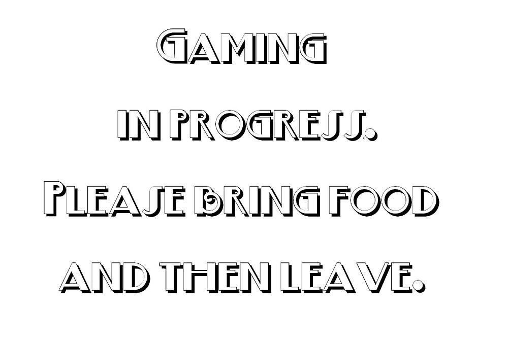 Gaming in Progress by Snofpix