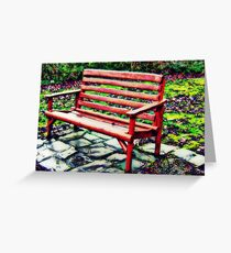 Baby Bench Greeting Card