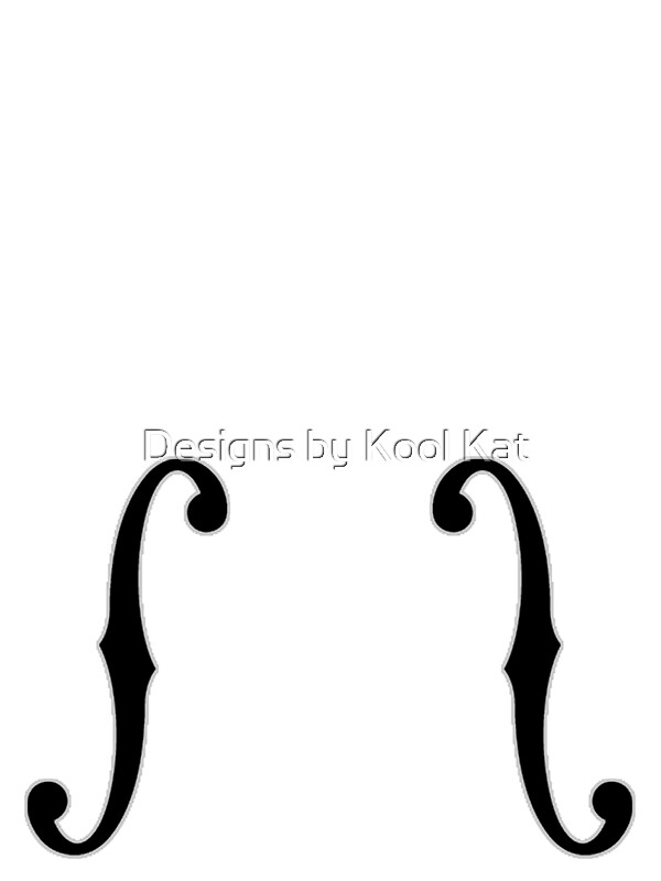 Upright bass guitar cello f holes cutouts art prints by for Guitar f hole template