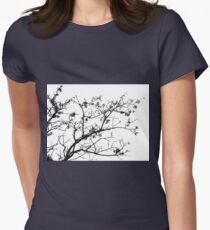 Bare tree Womens Fitted T-Shirt
