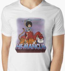 He-Mancub T-Shirt mit V-Ausschnitt