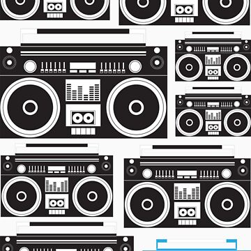 Boombox Black & Blue by simplemachine