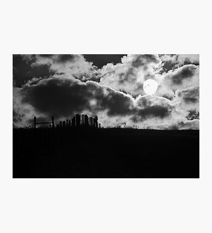 Sunrise on the Farm BW Photographic Print