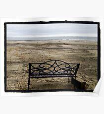 Bench, Sullivans Island Beach Poster